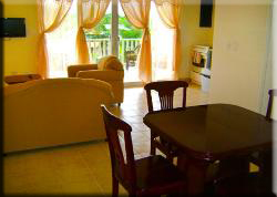 Bocas Seaview Condos living area and dining room